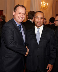 XJTAG CEO Simon Payne with Massachusetts Governor Deval Patrick