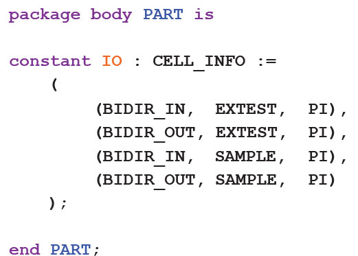 Extract from a Custom Cell Type Package