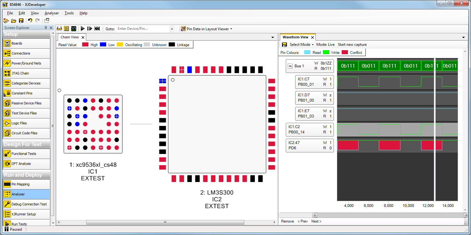 XJTAG Waveform Viewer