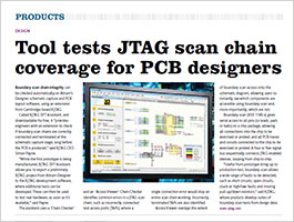 XJTAG in Electronics Weekly March 2016