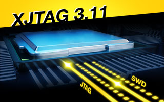 XJTAG Version 3.11 supports SWD (JTAG Boundary Scan)