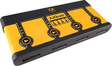 XJQuad four-port JTAG controller