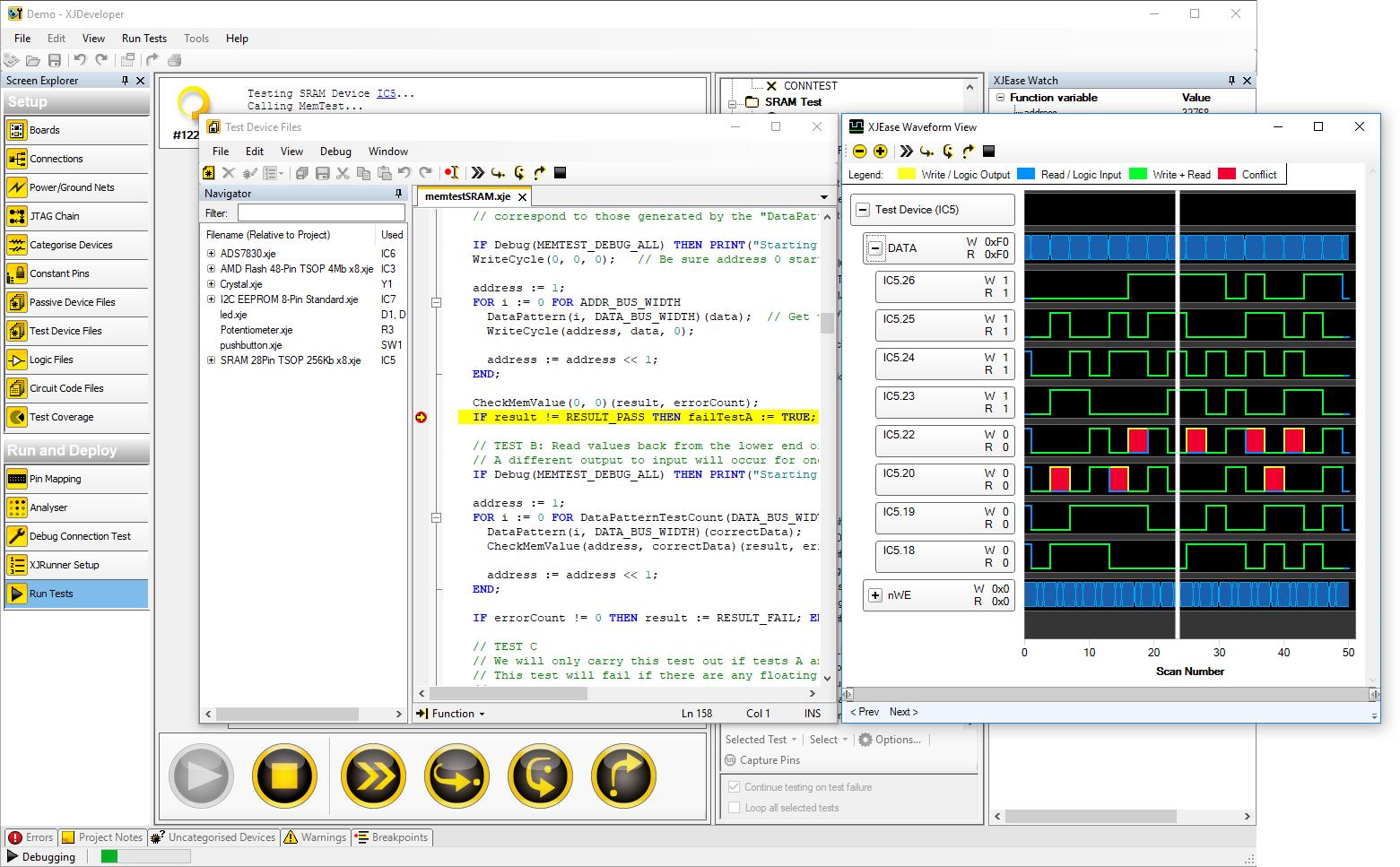 XJDeveloper - Full JTAG Boundary Scan Test Development