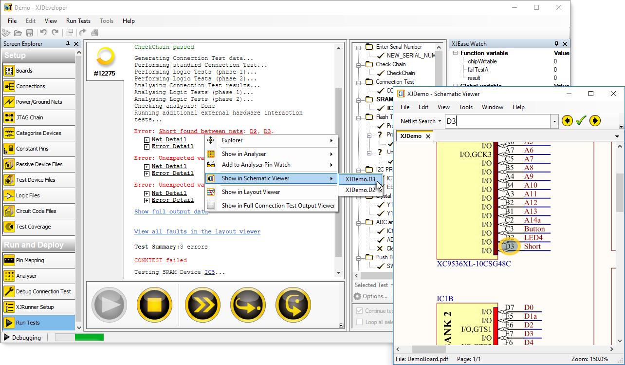 XJDeveloper - Short displayed in Schematic Viewer